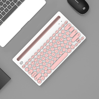 Multi-device Bluetooth Keyboard for Ipad Tablet - Pink
