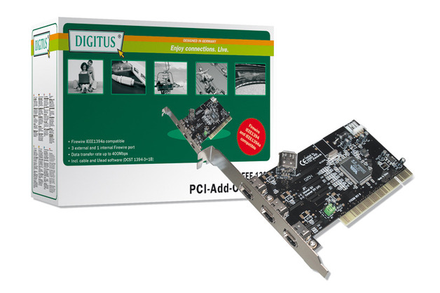 Digitus PCI 3 Port Firewire Card