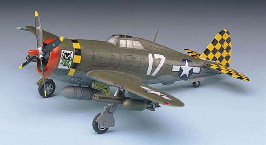 "Academy P-47D T/Bolt ""Razor Back"" 1/72 Model Kit image"