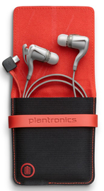 Plantronics BackBeat Go 2 Bluetooth Headset with Charge Case (White)