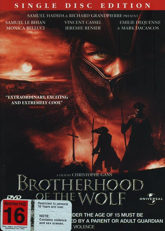 Brotherhood Of The Wolf on DVD