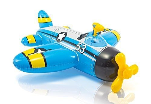 Intex: Water Gun Plane Ride-On - Blue