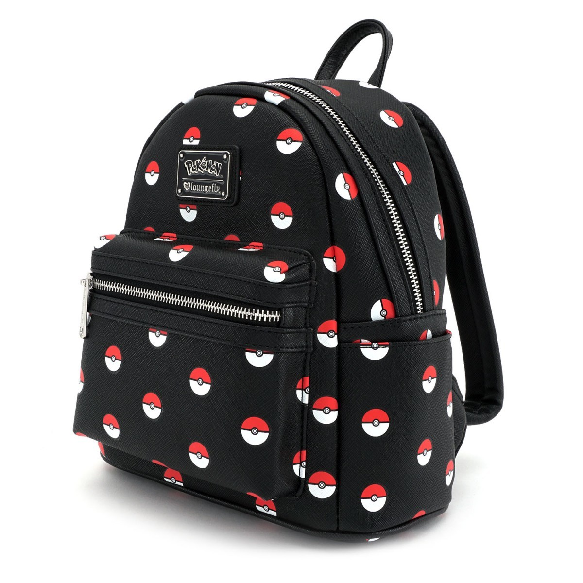 Loungefly Pokemon Pokeball Print Mini Backpack image