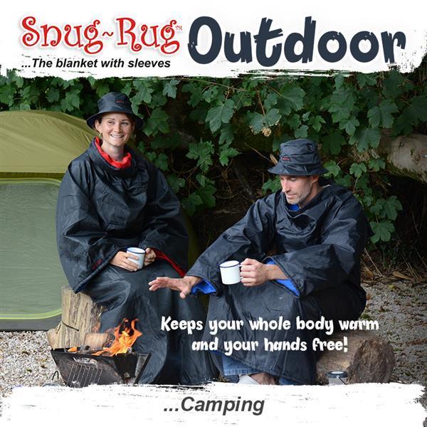 Red Snug Rug Outdoor Blanket with Hat