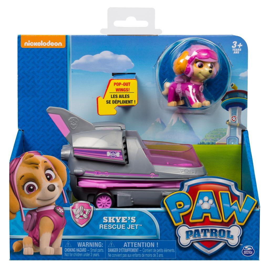Paw Patrol: Basic Vehicle & Pup - Skye's Rescue Jet