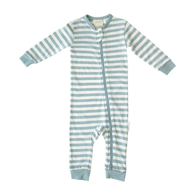 Woolbabe Merino/Organic Cotton PJ Suit - Tide (3-6 Months)