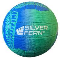 Silver Fern Falcon Netball - Blue (Size 5)