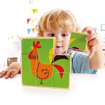 Hape: Farm Animals Wooden Block Puzzle image