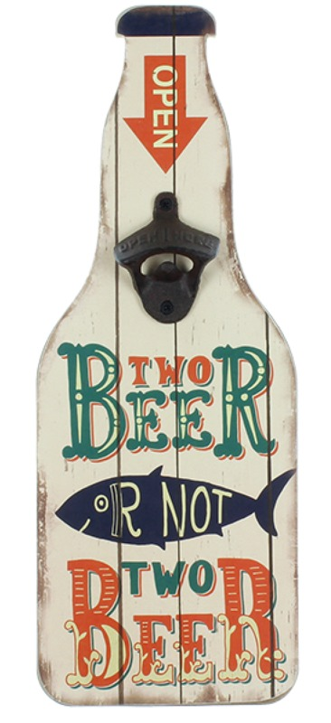 MPH: Bottle Opener Wall Plaque - Two Beer