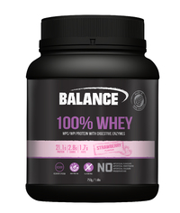 Balance 100% Whey New Formula Protein Powder - Strawberry (750g)
