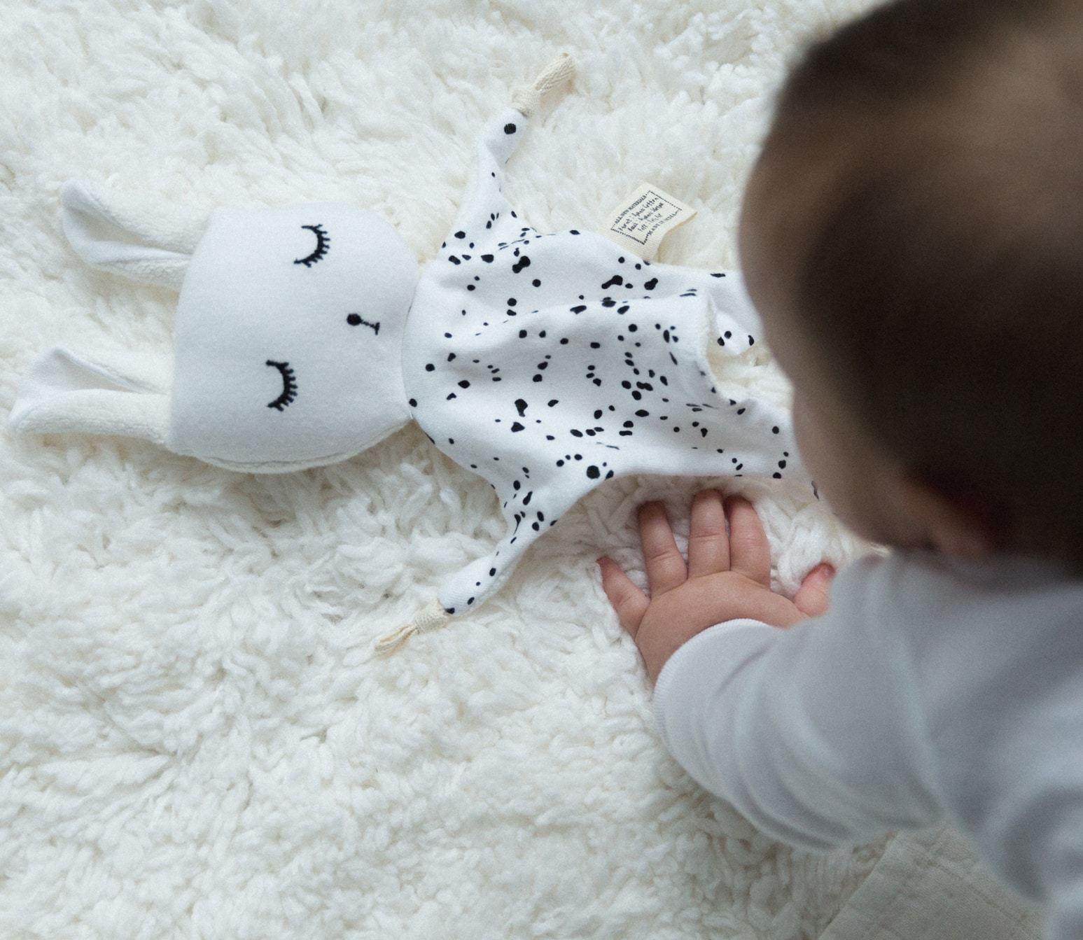 Wee Gallery: Organic Cuddle Bunny - Splatter image