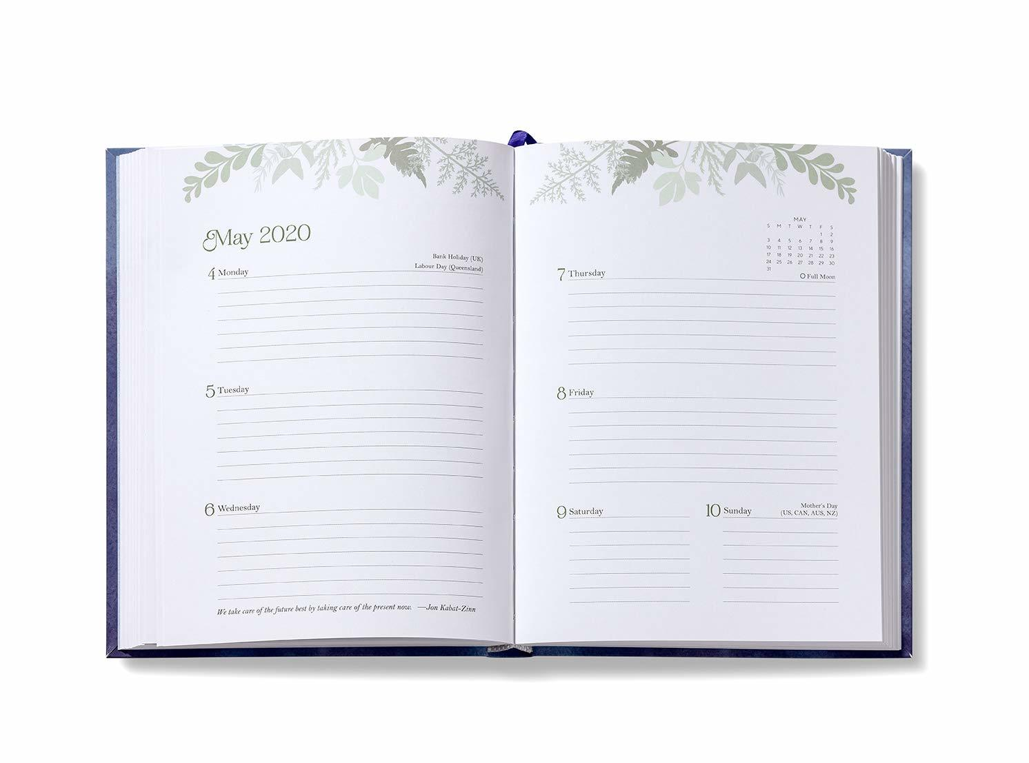 2020 High Note Mindfulness Sea Smoke in Silver 18-Month Weekly Planner image