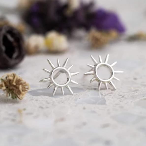 Midsummer Star: Open Sunshine Studs (silver)