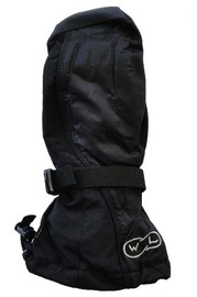 Mountain Wear: Black Waveline Adult Snowboard Mittens (Large)