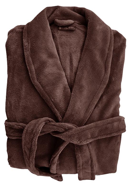 Bambury: Microplush Robe - Bitter Choc (M/L)