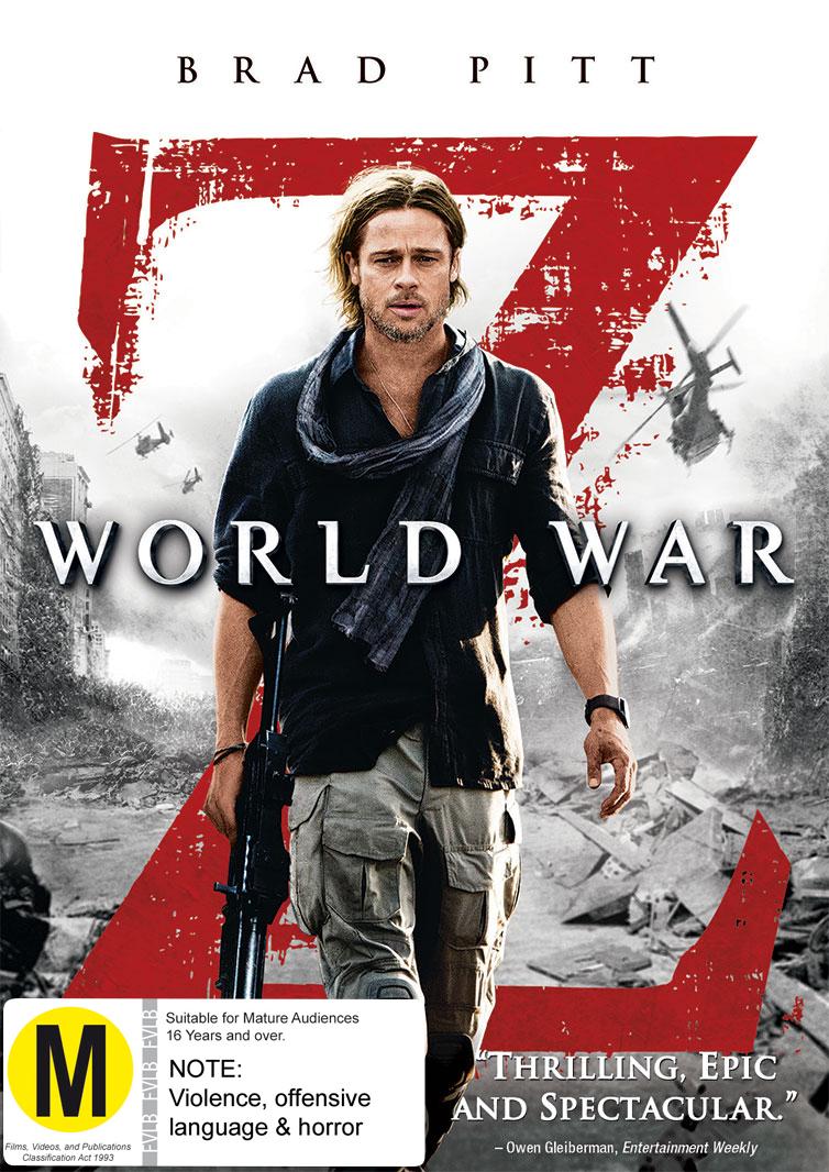 World War Z on DVD image