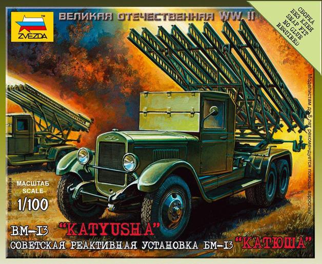 "Zvezda: 1/100 Soviet BM-13 ""Katyusha"" - Model Kit"