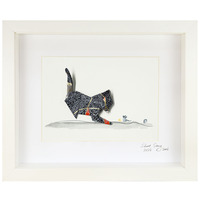 Short Story: Midnight Cat - Small Frame (White)