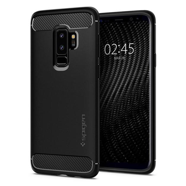 Spigen: Galaxy S9+ Rugged Armor Case - Black