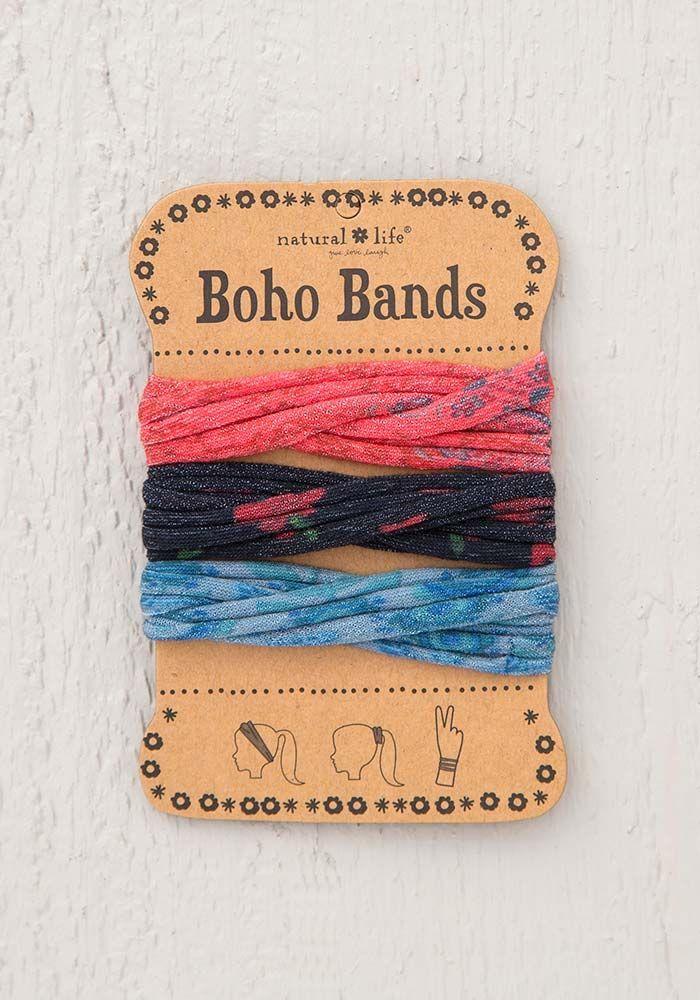 Natural Life: Boho Bands - Red/Blue/Black (Pack of 3) image