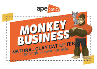 Monkey Business Cat Litter - Natural Clay (20L)