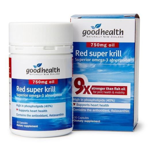 Good Health Red Super Krill 750mg (30 Capsules)