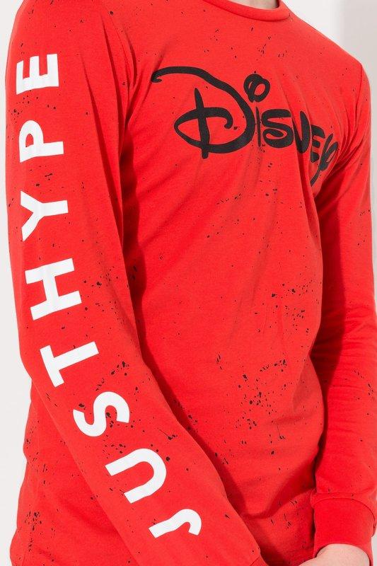 Just Hype: Disney Splatter Long-Sleeve Kids T-Shirt - Red - 11-12y