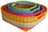 Woven Nesting Storage Baskets (Squared)