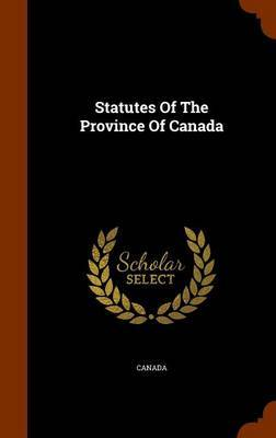Statutes of the Province of Canada image