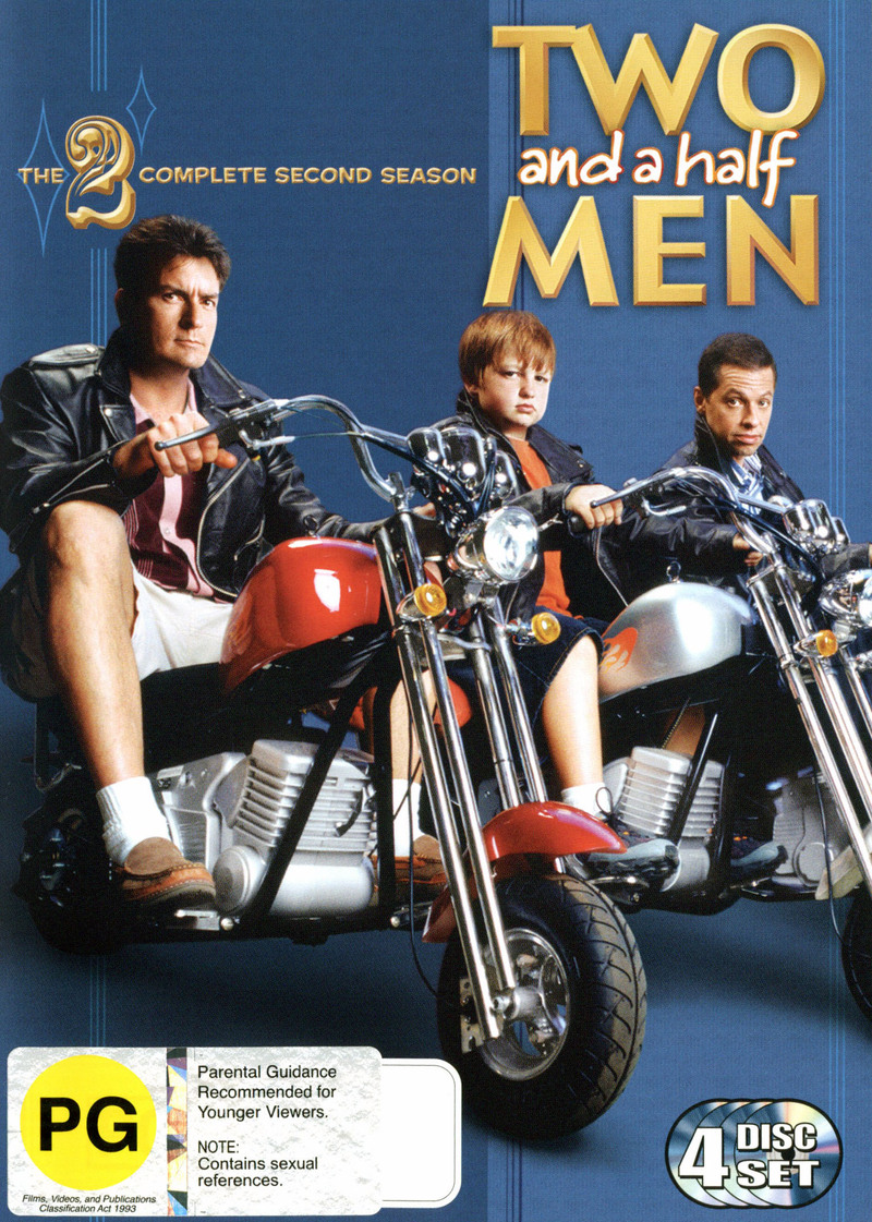 Two And A Half Men -The Complete Second Season (4 Disc Set) on DVD image