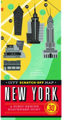 City Scratch-Off Map: New York: A Sight-Seeing Scavenger Hunt by Christina Henry de Tessan