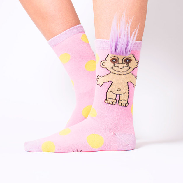 Troll Socks (Pink Polka Dot Party)