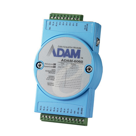 Advantech ADAM-6060 6-Channel Relay OutputW/DI