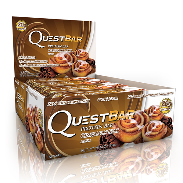Quest Nutrition - Quest Bar Box of 12 (Cinnamon Roll)