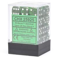 Chessex Signature 12mm D6 Dice Block: Recon Speckled