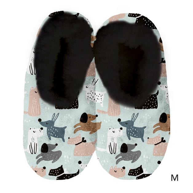 Sploshies: Women's Velvet Slippers - Dog (Medium)