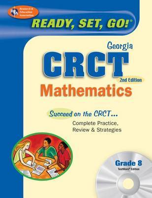 Georgia Crct Grade 8 Math with Testware (Rea) by Stephen Hearne, PH.D. image