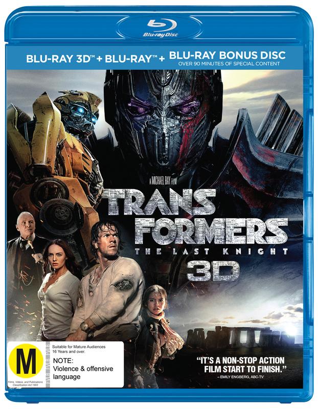 Transformers: The Last Knight on Blu-ray, 3D Blu-ray