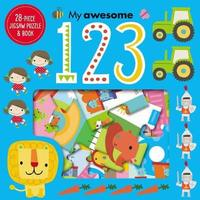 Jigsaw Puzzle and Book My Awesome 123 by Make Believe Ideas, Ltd.