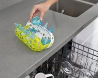 Boon Clutch Dishwasher Basket (Green/White)