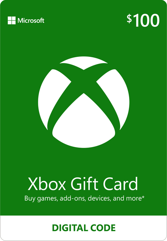 Xbox Live $100 Gift Card (Digital Code) for Xbox One