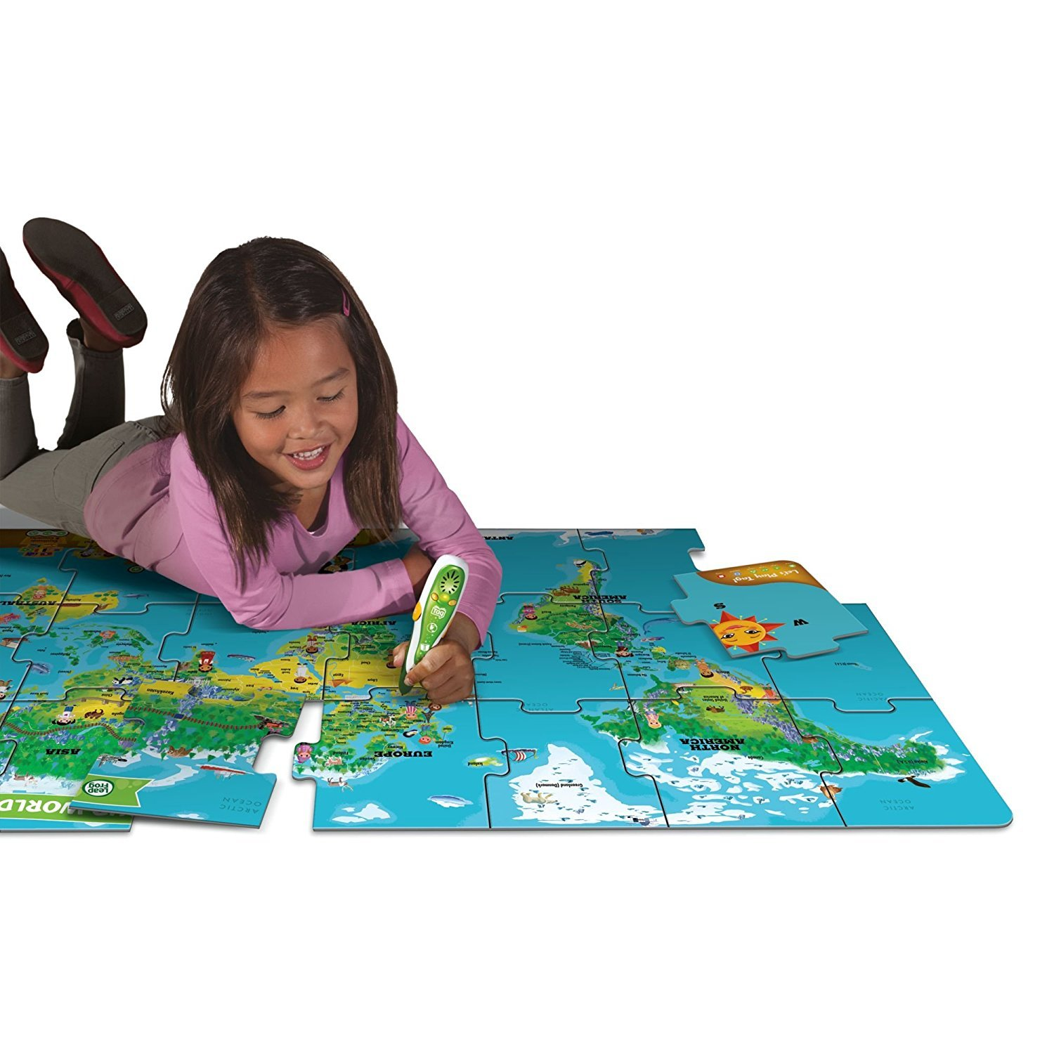Leapfrog leapreader discovery set world map jumbo puzzle toy leapfrog leapreader discovery set world map jumbo puzzle works with tag image gumiabroncs Image collections