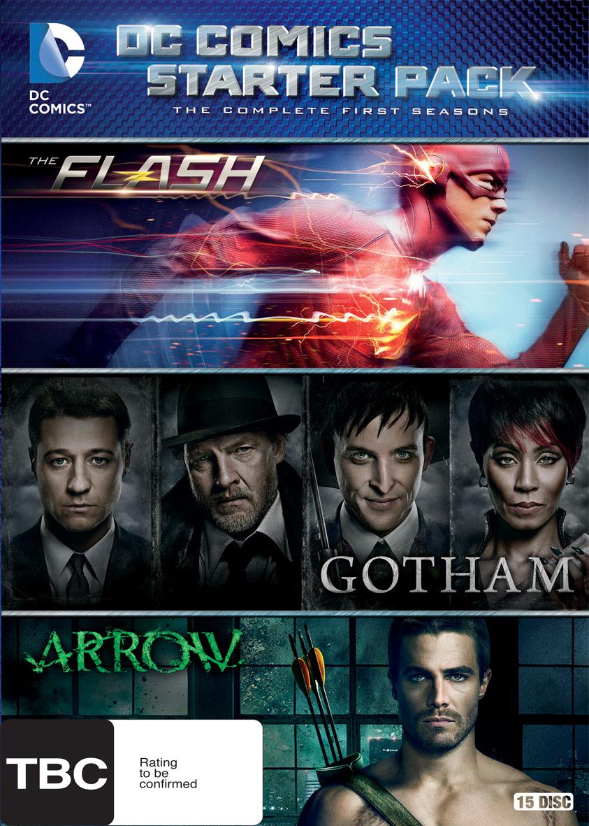 DC Comics Starter Pack - Season 1 of Arrow, Flash and Gotham on DVD image