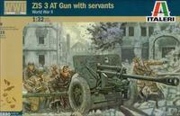 Italeri: 1/32 ZIS 3 AT Gun & Russian Crew - Model Kit