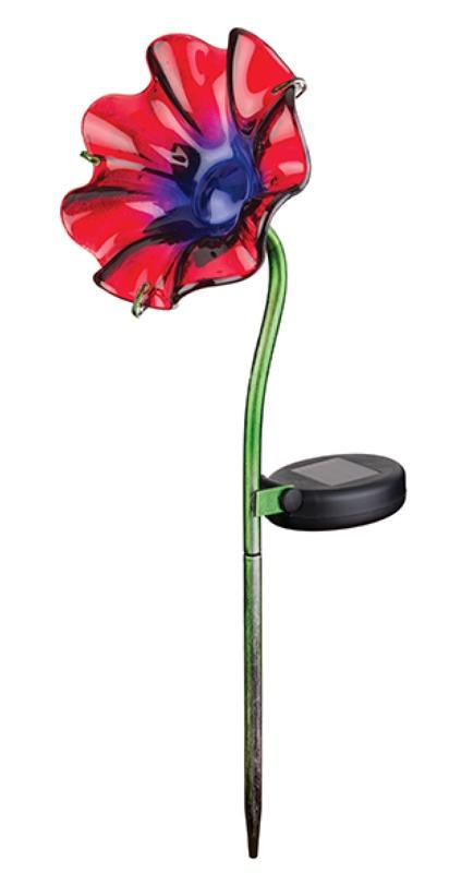 Regal Art & Gift: Mini Solar Poppy Stake - Red