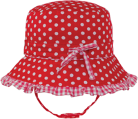 Black Ice: Polka Red Bucket Cap - (2-4 Years)