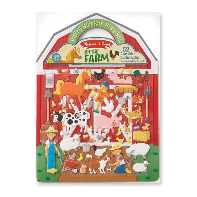 Melissa & Doug: On The Farm Puffy Stickers