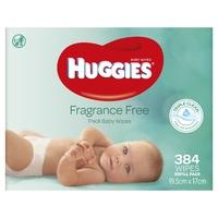 Huggies Baby Wipes - 384 pack image