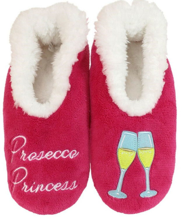 Slumbies Prosecco Princess Pairables Slippers (M)