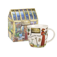 Queens At Your Leisure Lady Gardener Squash Mug In Box 400ml
